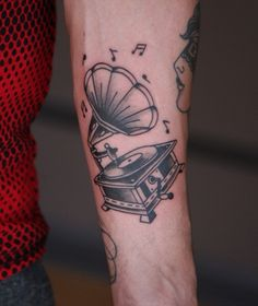 Gramophone tattoos....