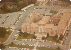 (approximately 1983) Louise Obici Hospital from the air, Suffolk, VA by Becky Hayes, www.BeckyHayes.com Suffolk Va, Spoonflower, Etsy Store, Virginia, The Past, Fine Art, Digital, Day, Visual Arts
