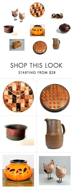 """""""Brown cream orange home ware"""" by einder ❤ liked on Polyvore featuring interior, interiors, interior design, home, home decor, interior decorating, Arabia, kitchen and vintage"""