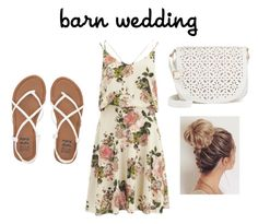 """Casual barn wedding"" by farmeremily14 ❤ liked on Polyvore featuring VILA, Billabong, Under One Sky, bestdressedguest and barnwedding"