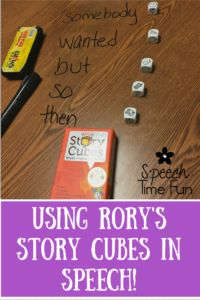 Using Rory's Story Cubes In Speech Therapy. Build narratives with this fun…