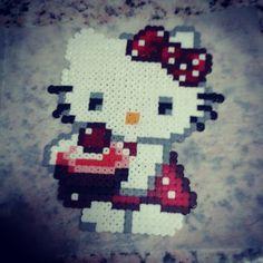 hello Kitty cupcake hama beads by nazaretrp