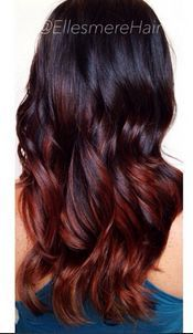 Image result for dark brown and burgundy hair