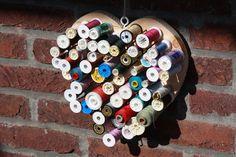 heart shapped thread holder