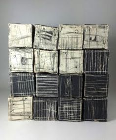"Pile of Blocks  stoneware  12""x12""x12"" : Currently Available : Lori Katz Ceramic Design   Ceramic Wall Art"