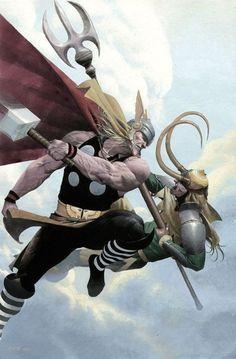 Loki Thor by Esad Ribic: