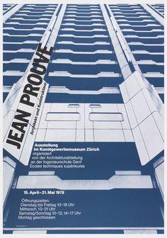 Poster, Jean Prouvé: Architekt und Konstrukteur, 1978
