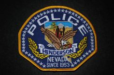 Henderson Police Patch, Clark County, Nevada (Current Issue)