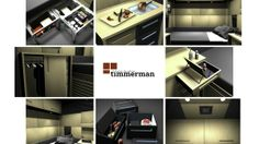 Zimmerman : Semi-truck sleeper interior    Modular cartboard and wood panels to create a home, in a truck