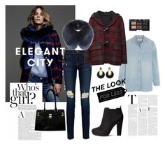 """""""The Look for less"""" by jessy-wi ❤ liked on Polyvore featuring mode, LIU•JO, Frame Denim, H&M, NARS Cosmetics, Calvin Klein, Madewell en Hope"""