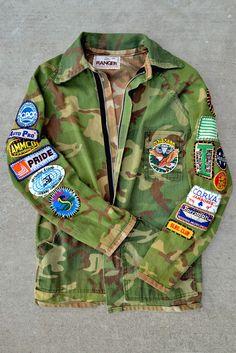 Cobra Ranger; Vintage Patched Army Jacket