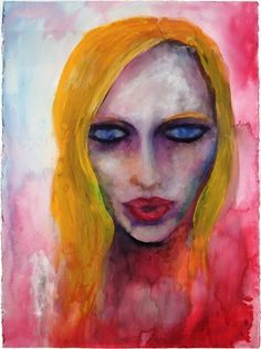 Marilyn Manson water color