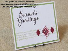 Handmade Christmas Card; Mosaic Madness; Stampin' Up!; Tamara's Paper Trail