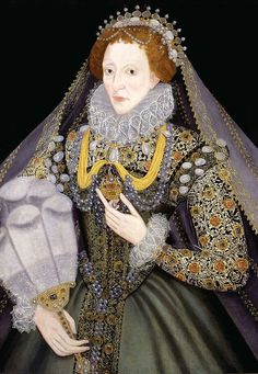 Portrait de Elizabeth I, 1570 peintre inconnu Détail