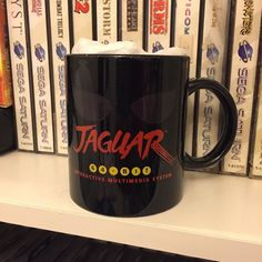 On instagram by theonlyk #atari2600 #microhobbit (o) http://ift.tt/20l4MGB got this beautiful atari jaguar mug #cup#mug#atari#jaguar#atarijaguar#sega#nintendo#playstation#xbox#saturn#dreamcast#videogames#coffee