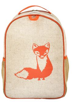 Orange Fox Matching Lunch Box to Toddler Backpack - SoYoung - eco-friendly bags and accessories for the modern family - designed in Canada