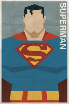 Vintage Superman Poster