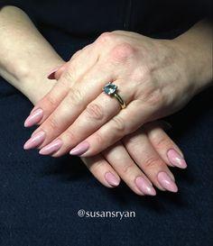 Gel nails - pink shimmer gel nails