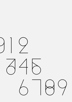 Numbers typography by Sander Kuypers