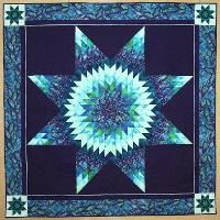 Blue Lone Star Quilt