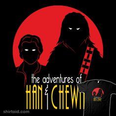 han and chewie   The Adventures of Han & Chewie   Shirtoid