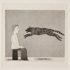 David Hockney Illustrates the Fairy Tales of the Brothers Grimm – Brain Pickings 'A black cat leaping' (The Boy Who Left Home to Learn Fear) David Hockney, Edward Hopper, Edward Gorey, Brothers Grimm Fairy Tales, Robert Rauschenberg, You Draw, True Art, Gravure, Art Plastique