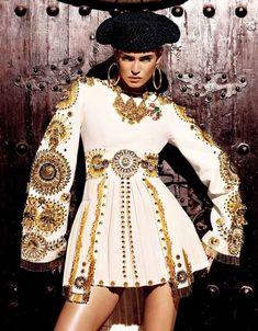 Torero-Inspired Editorials - The Vogue Japan Kiss of the Matador Shoot Stars Bianca Balti (GALLERY)