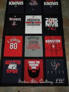 "All things ""Houston"" in this t-shirt quilt!"