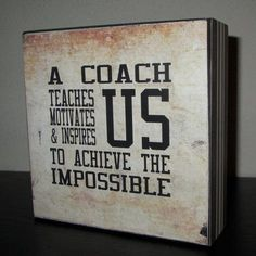 Coach Gift Coach Sign Sports Team for Coach A coach teaches us motivates us & inspires us to achieve the impossible - Most Expensive Luxury Brands Cheer Coaches, Cheerleading Gifts, Volleyball Gifts, Basketball Gifts, Basketball Coach, Sports Gifts, Basketball Sayings, Basketball Cookies, Hockey Coach