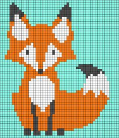 Thrilling Designing Your Own Cross Stitch Embroidery Patterns Ideas. Exhilarating Designing Your Own Cross Stitch Embroidery Patterns Ideas. Loom Beading, Beading Patterns, Embroidery Patterns, Pixel Pattern, Fox Pattern, Pixel Crochet, Crochet Chart, Cross Stitch Charts, Cross Stitch Patterns