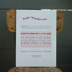 Image of Affiche Merci Nounou