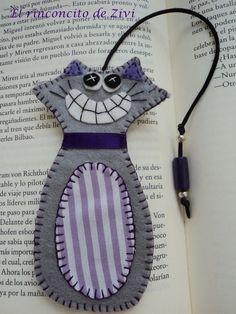 marcapaginas gato de El rinconcito de Zivi por DaWanda.com