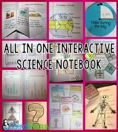 All in One Interactive Science Notebook-- paid resource with over 200 fold-ups, cut and paste, sorts, and more, all with sample photos to make prep easy!