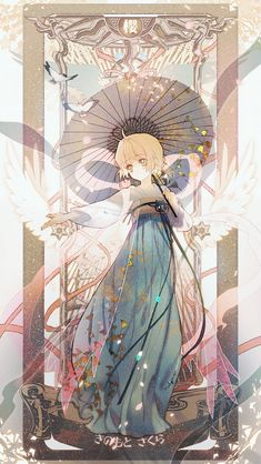 Sakura Kinomoto, unless it's another version of Sakura. Cardcaptor Sakura, Sakura Kinomoto, Syaoran, Anime Chibi, Anime Manga, Anime Art, Art And Illustration, Illustrations, Anime Sakura