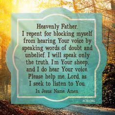 Prayer for hearing God