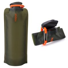 When you're out hiking, camping, and exploring the great outdoors, an empty stainless steel or plastic water bottle takes up valuable space, but this unique one can be folded, rolled up, or simply flattened when empty.