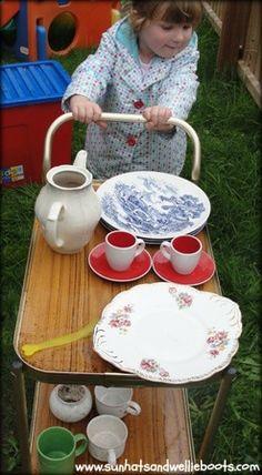 outdoor kitchen/tea room