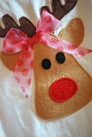 free pattern- this reminds me of some cute reindeer Christmas toys from Mc Donalds a hundred years ago... when Happy Meals had REAL toys! http://noodlesandmilk.blogspot.com/2010/11/too-cute-reindeer-shirt-tutorial.html  This is the actual link to the free pattern