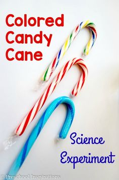 3 Colored Candy Canes Science Experiment by Preschool Inspirations Easy Science Experiments, Science For Kids, Science Activities, Science Fun, Science Projects, Physical Science, Summer Science, Science Ideas, Science Education