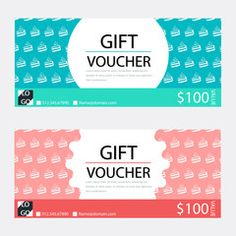 Gift VoucherCoupon Template With Flat Design  Givecard
