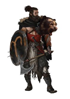 half orc with greataxe - Google Search