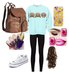 """""""#nofilter #onfleek"""" by nmichita ❤ liked on Polyvore featuring Converse, H&M and Casetify"""