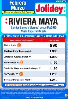 Oferta Febrero-Marzo a Riviera Maya desde 990€ Tax incl. Salidas Lunes y Viernes ultimo minuto - http://zocotours.com/oferta-febrero-marzo-a-riviera-maya-desde-990e-tax-incl-salidas-lunes-y-viernes-ultimo-minuto/