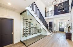 Not sure what the 19-year-old will do with this under-stair wine room, but it's certainly a cool feature of the home. #refinery29 http://www.refinery29.com/2016/12/133924/bella-thorne-los-angeles-home#slide-9