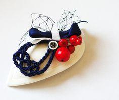 Headpieces & Fascinators - Maritimes Tröpfchen Fascinator Haarschmuck blau - ein Designerstück von billies bei DaWanda