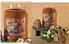 Primitive Bunny Jar Candle