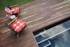 Split - Spotted Gum Deck and Pool Custom Home Designs, Custom Homes, Spotted Gum Decking, Niche Design, Front Deck, Own Home, Backyard Landscaping, Building Design, Swimming Pools