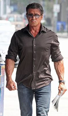 Sylvester Stallone -holy veins, Batman! Do I pin this on my man board or under Things that crack me up? Hmmm. By N@ruto Kaari$