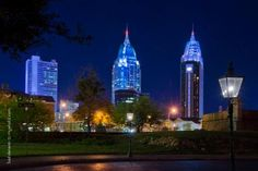 Gallery | Light It Up Blue | Autism Speaks Mobile Towers - Mobile, Alabama