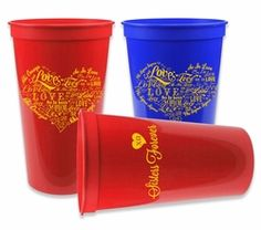 "Sorority Cup - Giant 22oz Plastic Cup! From our ""so in love"" collection. #sororitycups #greekgear"